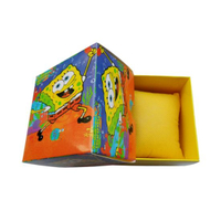 Colorful Square Comic Paper Box