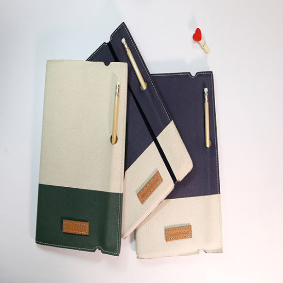 Cloth Cover Notebook with a Pencil for Office Supply