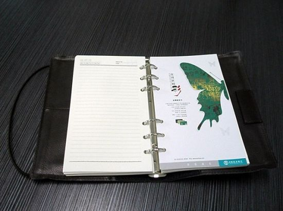 PU Leather Cover Notebook Printing with Low Price