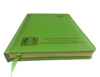 Green PU Leather Hardcover Diary Notebook / Memo Pad / Office Supply